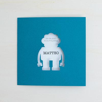 Geboortekaartje Matteo - robot