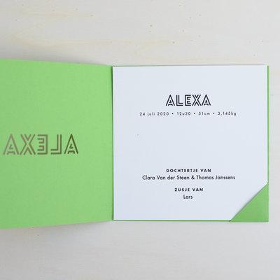 Geboortekaartje Alexa