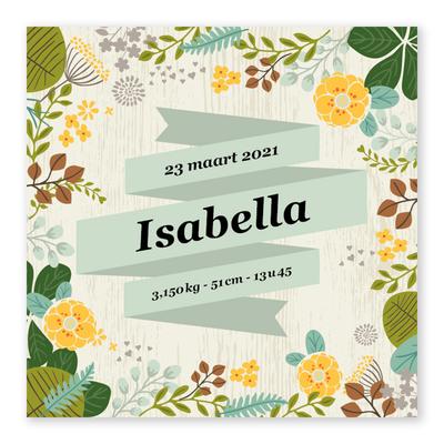 Geboortekaartje Isabella