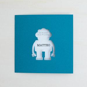 Geboortekaartje Matteo robot