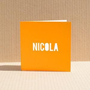 Geboortekaartje Nicola