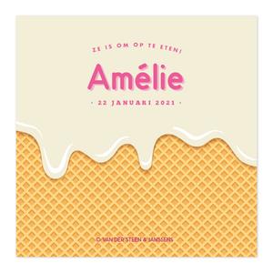 Geboortekaartje Amélie