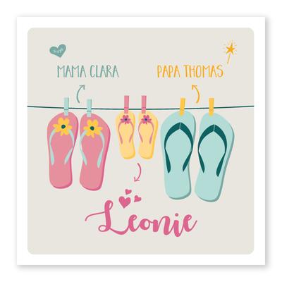 Geboortekaartje Leonie