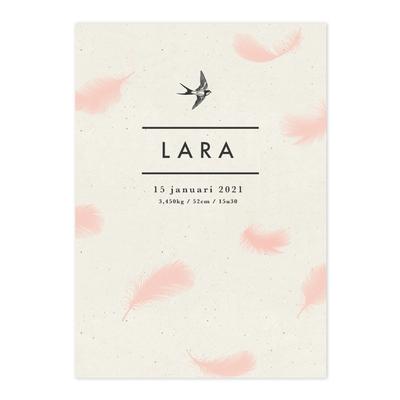 Geboortekaartje Lara