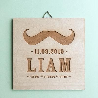 Geboortebord Liam