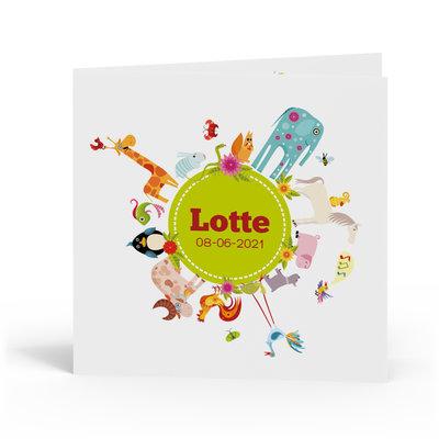 Geboortekaartje Lotte