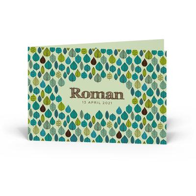 Geboortekaartje Roman