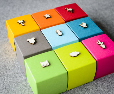 Houten minivormpjes - 20 stuks