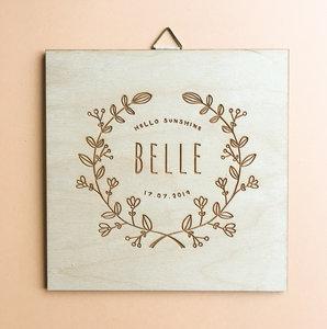 Geboortebord Belle