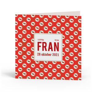 Geboortekaartje Fran